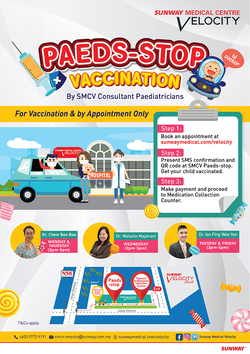 Sunway Medical Centre Velocity Paeds Stop Vaccination